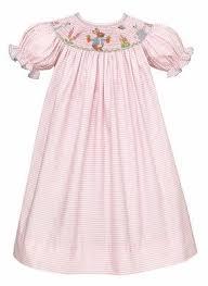 Anavini Baby Toddler Girls Pink Striped Smocked Peter