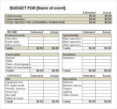 sample business budgets fundraiser event budget template work it pinterest budgeting
