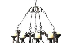 rustic metal candle chandelier chandeliers non electric s for wrought iron large size of