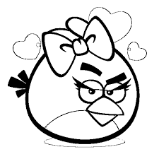 the character of angry birds and cartoon angry birds coloring pages