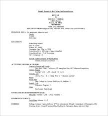 A High School Resume How To Write A High School Resume For College Applications
