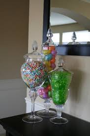 Apothecary Jar Decorating Ideas Spring apothecary jar fillers Could make a cute Easter table 68