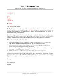 Administration Job Cover Letter Examples Tomyumtumweb Com