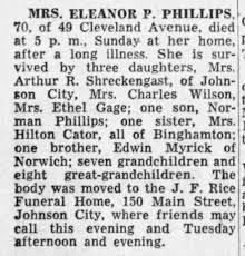 Eleanor Myrick Phillips death - Newspapers.com