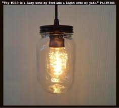 mason jar pendant lighting. Mason Jar PENDANT Light NEW Quart Clear The Lamp Goods Pendant Lighting