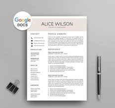 Google Docs Resume Template Custom Best PREMIUM Google Docs Resume Templates Of 60 MioDocs