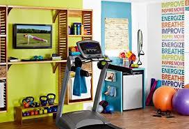 design a home gym. wall mural design a home gym