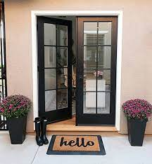 double front doors solid wood
