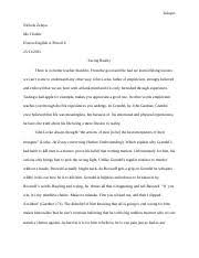 "dr martin luther king jr s i have dream speech and ""the  4 pages grendel literary analysis essay nichols zelaya"