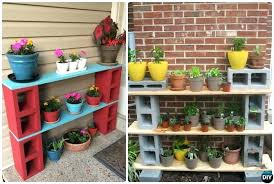 garden shelves. Garden Shelf Concrete Cinder Block Shelves Ideas T