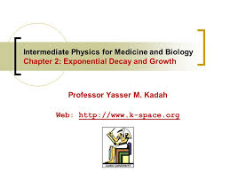 2 interate physics for cine and biology chapter 2 exponential decay and growth professor yasser m kadah web k space org
