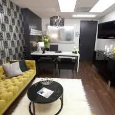 office shag. Modern Black And White Office With Yellow Chesterfield Sofa Office Shag 3