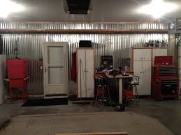 corrugated metal garage walls finish