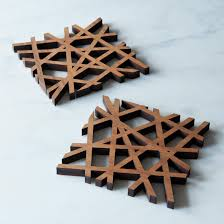midcentury modern trivet on food