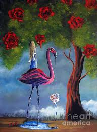 alice in wonderland painting the roses red shawna erback