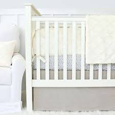neutral baby bedding ivory and natural linen baby boy or gender neutral crib set neutral nursery