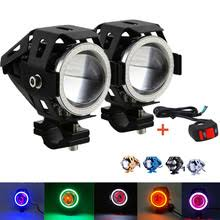 spotlight wiring harness online shopping the world largest set 2pcs 4 colors motorcycle led headlight u7 led fog lamp spot light spotlight driving daytime lights 1pcs wiring harness kit
