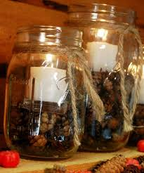 How To Decorate Candle Jars Do U Love These Mason Jar Candle Holders Centerpiece For 100 77