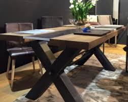 dining room sets uk. industrial dining table with oak top and metal base room sets uk