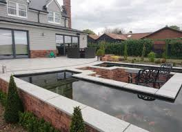 patios water features planting plans