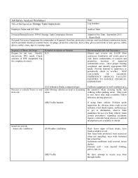 Job Hazard Analysis Worksheet Job Safety Analysis Worksheet For Storage Tank Inspections