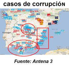 Resultado de imagen de mapa de la corrupcion en españa