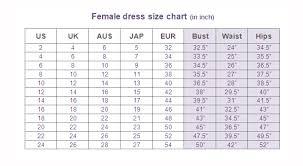 female dress size conversion charts glamwearballroom com
