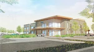 rendering of facey medical group s new medical office building due to open next year on the south side of soledad canyon road at mammoth lane