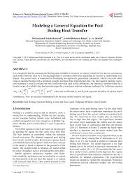 pdf modeling a general equation for pool boiling heat transfer