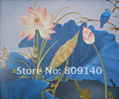 feng shui paintings for office. Flower Oil Painting Feng Shui Realist Art High Quality Hand Painted Home Office Hotel Wall Decor New Free Shipping Paintings For