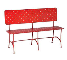 red outdoor bench red metal erfly bench 8 plastic coated with arms bird garden home red outdoor bench