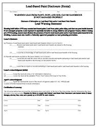 ohio lead based paint disclosure form landlord tenant legal forms landlord station