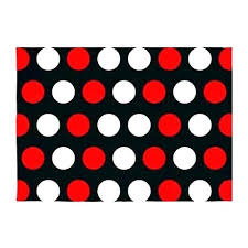 ideal polka dot area rug d4628709 red interior