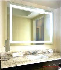 large landscape bathroom mirror wall
