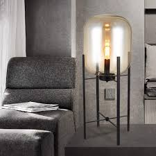 Bedroom Bright Lights Amazon Com Tuersuer Bright Lights At Night Glass Table Lamp