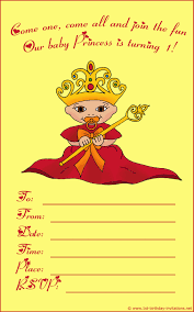 Princess Invitations Free Template 20 Cute 1st Birthday Invitations Free Printable And Original
