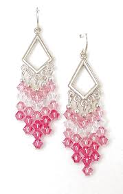 03 04 905 pink blush crystal chandelier earrings