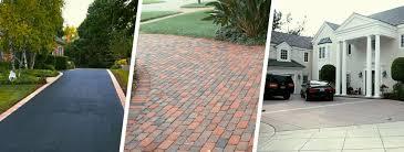 comparing asphalt vs brick vs concrete