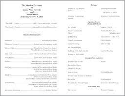 Catholic Wedding Ceremony Programs Templates Ng Ideas On Program