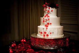 beautiful white and red wedding cakes. Unique And Beautiful White Three Tiered Round Wedding Cake With Coral And Red Floral  Accents On A Vintage In White And Red Wedding Cakes H