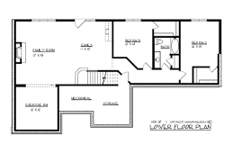 ranch house plan with 3 bedrooms and 2