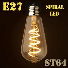 Spiral Led Light Dimmable E27 B22 T45 A60 St64 G95 G125 Spiral Led Filament Light Bulb Retro Vintage Lamps Decorative Lighting