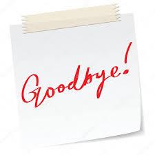 Goodbye Note goodbye note Stock Vector © mtkang 24 1