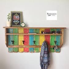Shabby Chic Wall Coat Rack Amazon Entryway Wood Shelf Rustic Rainbow Coat Rack 57