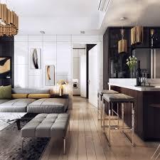 stunning lighting. Luxurious Apartment With Dark Interiors And Stunning Lighting R