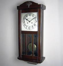 antique wooden wall clocks with pendulum