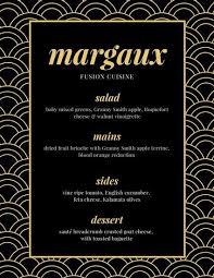 Fancy Restaurant Menu Black Gold Elegant Fancy Menu Roquefort Cheese Menu