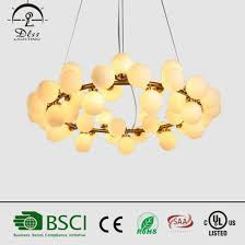 modern glass ball led decorative chandelier for hotel