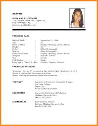Official Resume Format Free Download Ficial Resume Format Standard