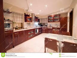 Modern Kitchen Interiors Modern Kitchen Interior Stock Image Image 3595441